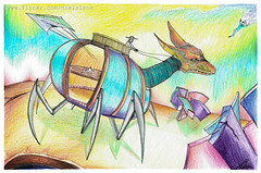 Galaxy ( Niels Len  Ilustracin - sketch/Portafol) Tags: draw drawing colores color dibujo chile santiago art arte acuarela watercolor acrlico ilustration ilustracion work urban urbano city ciudad animales animals