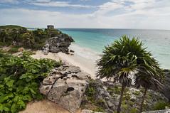 Ruins and beautiful beach (Joo Pedro Sousa Cruz) Tags: nikon d90 mxico tulum quintana roo maya beach landscape holidays tokina blue water