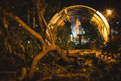 # (David C W Wang) Tags:      park typhoon kaohsiung taiwan sonya7ii sel90m28g  night terrible
