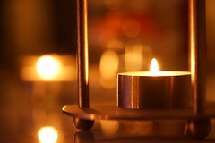 The candlelight season is coming (Wim van Bezouw) Tags: candle bokeh light object