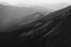Quiet contemplation of a crowded loneliness (George Pancescu) Tags: nikon d810 70200mm fagaras massif mountain romania europa light layers blackandwhite monochrome nature natural outdoor outstandingromanianphotographers solitude contemplation
