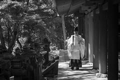 Nara B/W (1) - Priest (Patrick Vierthaler) Tags: kasuga taisha grand shrine shinto    nara park japan kansai bw monochrome
