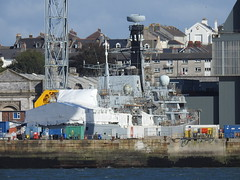 HMS ARGYLLE (mukaloon) Tags: hms argylle refit alongside devonport docks shhip royal navy frigate type23