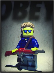 All Outta Bubblegum (LegoKlyph) Tags: lego custom theylive horror scifi roddypiper aliens greed