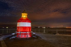 Lost in the night (G1K4) Tags: tokina 1116mm nikon d7000 longexposure lightpainting seaside lighthouse denmark kopenhagen harbor night clouds