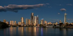 Surfers Paradise at sunset (georg_dieter) Tags: australia sunset surfersparadise goldcoast queensland highrises q1