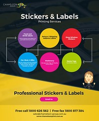 Stickers and Labels - Chameleon Print Group - Australia (Chameleon Print Group) Tags: printing businesscards promotionalproducts printingservices labelprinting stickerprinting stickers labels signprinting graphicdesignservices labelprintingservices stickerprintingservices print printers