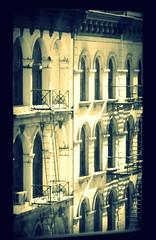 Tribeca View (mydogripley) Tags: tribeca streetscape manhattan new york cross process white street cast iron