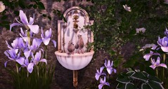 BA - Peter & Paul (~ oudicca ~) Tags: secondlife virtualworld maitreya 3d windlight firestormviewer digitalart digital exterior bird garden flower iris 8f8 grizzlycreek