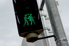 Love is . . . . . Crossing the road (only lines) Tags: love couple traffic light pedestrian crossing vienna austria green go