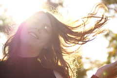 Untitled (Rabbit_128) Tags: sun flare hair glow dof blur portrait person people outdoors