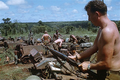 Vietnam War 1969 - 11th Armored Cavalry in rubber plantation near Loc Ninh and Quan Loi (manhhai) Tags: asia group historicevent hochiminhcity northamericanhistoricalevent people saigon southvietnam southeastasia southeastregion unitedstateshistoricalevent vietnam vietnamwar19591975