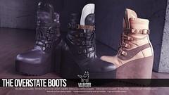 [VALE KOER] OVERSTATE BOOTS (VALE KOER) Tags: vk vale koer second life sl valekoer overstate mesh boots kustom9