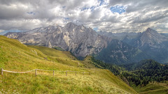 Alps (pentars) Tags: alps italy mountains rock hdr view scenery landscape nature beautiful slope clouds green autumn pentax k5ii sigma 1020 35
