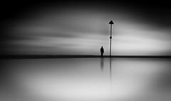 Reflection (Richard Reader (luciferscage)) Tags: reflection reflections essex shoeburyness water cloud man longexposure bnw blackwhite monochrome mono bw sea seascape thames thamesestuary