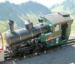 Brienz Rothorn Bahn, Switzerland - Loco. No. 14 built by SLM in 1996 stands at the Summit on the 13th September 2016 (trained_4_life) Tags: brb brienzrothornbahn switzerland berneroberland berneseoberland steamrackrailway
