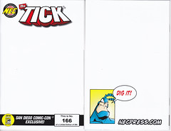 THE TICK SDCC SKETCH COVER NUMBER 166 NOT AUTOGRAPHED (vsndesigns) Tags: beta the tick vs arthur sentinel prime optimus successor townsend coleman lego minifig minifigure dcon 2014 ball mylar balloon buttons bonanza pencil indie shocker gbjr toys with tie and tshirt zombie in a steel box fox promotional totally kids magazine 45 club spoon taco bell meal commercial eli stone ben edlund little wooden boy comic book merchandise rare limited edition 80s 90s collector museum naked super hero heroine collection photo screen
