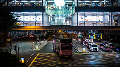 Hong Kong (e.glasov) Tags: hongkong city street apple applestore architecture bus road nightlights