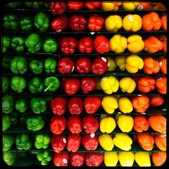 Pepper Rainbow (Q. Q. Kachoo) Tags: norfolknebraska norfolk hyvee grocerystore food blackborder 11 squareformat jamaicahipstapak love81film ruddylens hipstamatic ruddy love81