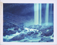 Waves of mist cleanse my soul. (feedmyhungryeye) Tags: type100 polaroid polaroidweek day1 mthood tamanawasfalls oregon waterfall expired 669 wow