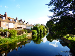 Great Stour at Abbots Mill Garden, Canterbury (Alex-397) Tags: canterbury kent river clearsky