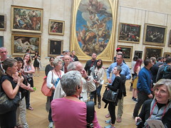 Where did our guide go - The Louvre (bronxbob) Tags: museums art artmuseums paris france thelouvre