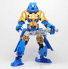 Range, Hero of Rhagard (Vorred) Tags: bionicle lego moc mocs comic hero champion range vorred revamp recolor toa nuva