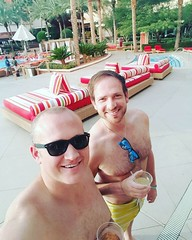 Eli and JP, longtime business associates and friends, enjoying a cold one in #Vegas!  #olninc #businessmen #travel #entrepreneurs (oln_inc) Tags: oln inc carson ca los angeles