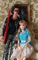 Mummy's Pearls and Daddy's Heart Attack (moogirl2) Tags: ken barbie diorama kenfashions barbiefashions integrity fashionista jasonwu modhairken guitar kensmoking miniatures