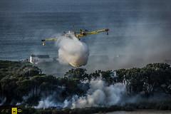 Incendio platamona (12) (Autolavaggiobatman) Tags: pineta elicottero stagno fiamme fumo mare sardegna canadair fuoco incendio platamona