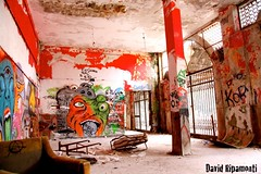 Room (David Ripamonti) Tags: people italy white house black colour abandoned pool look night dark lost graffiti casa scary place desk thing empty room ghost palace perso minareto graffs negozi vuoto oscurit consonno abbandonata abbandonate