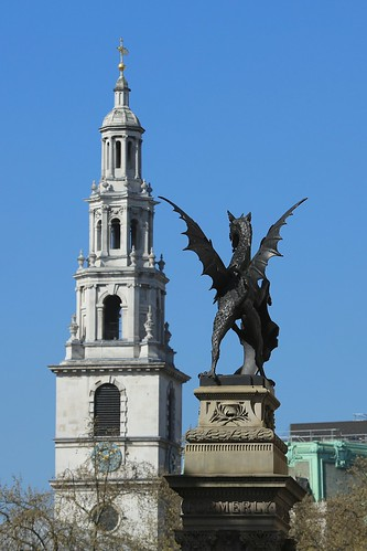 Temple Bar Dragon & St Clement Danes