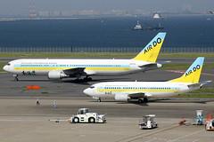 Air Do | Boeing 737-500  & Boeing 767-300ER | JA8504 & JA01HD | Tokyo Haneda (Dennis HKG) Tags: plane canon airplane tokyo airport aircraft 1d hd boeing ado 767 737 haneda hnd planespotting boeing767 767300 boeing737 100400 737500 airdo rjtt ja01hd ja8504 boeing767300 boeing737500