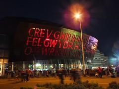 Cardiff City Promotion Parade (DJLeekee) Tags: city red building promotion wales bay football fireworks centre wmc cardiff millennium illuminated parade celebrations fans pierhead dahl plass roald ccfc