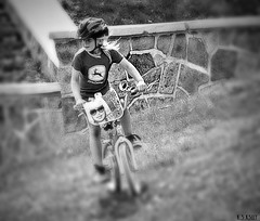 5-16-13  bh 1 (nevikk) Tags: bicycle helmet downhill blondehair hesterpark girlonbicycle ridingdownhill