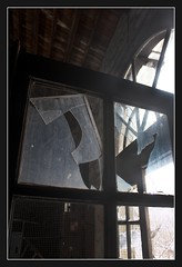 Broken Windows / The Old Power Plant Series (annette's art) Tags: windows broken glass geometry brokenglass geometricshapes oldpowerplant