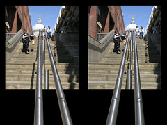 3D St.Paul's downstairs frame (3D shoot) Tags: london saint stairs 3d shoot stpauls pauls stereo parallel stereoscope oof oob ttw 3dshoot