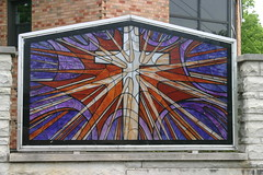 Church Sign Stained Glass (niureitman) Tags: church illinois stainedglass elmhurst presbyterianchurch 2013 elmhurstilllinois yorkfielpresbyterianchurch