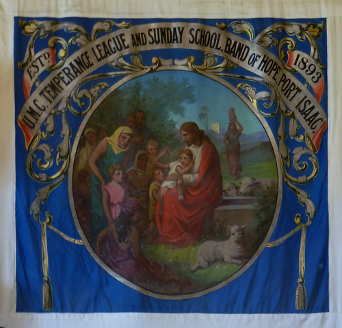 Temperance League Banner,, Port Isaac