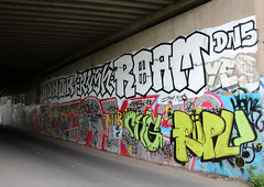 Fr grere Brcken! (universaldilletant) Tags: graffiti frankfurt yes honor freak rush jail muc roam ultra henk dns chg rpl