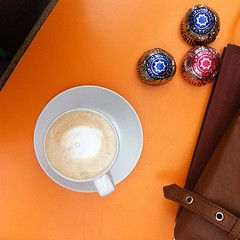 Why we came back. Teacakes and lattes (And people). #nofilter (Mythopoetic) Tags: square squareformat iphoneography instagramapp uploaded:by=instagram
