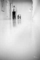 Negative Space - Glasgow Museum of Modern Art (David Hannah) Tags: man reflection art museum scotland glasgow