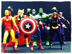 Avengers assemble! two more days of Avengers week to go. (chevy2who) Tags: black america toys 1 action ironman captain hawkeye thor marvel universe widow figures avengers hasbro 375 chameleonfilter