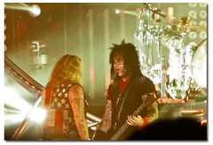 My fave shot of the night, love the expression on Nikki's face :) (KarinaInTO) Tags: concert heavymetal motleycrue