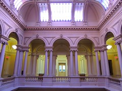Second Floor Main Rotunda .... Osgoode Hall (Greg's Southern Ontario (catching Up Slowly)) Tags: toronto nikon arch columns arches rotunda atrium osgoodehall torontoist interiorphotography
