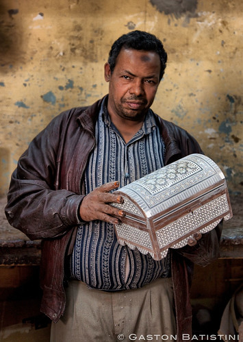 The Father. Marquetry box maker. Bab Zweila, Cairo, Egypt