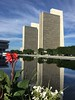Agency Buildings Reflected on the Plaza_1252 (Prof Ryall) Tags: agencybuildings nysmuseum empirestateplaza reflectingpools reflections albanyny towers architecture