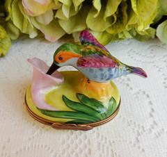 Limoges France Peint Main Marque Deposee Porcelain Trinket Box Humming Bird (Donna's Collectables) Tags: limoges france peint main marque deposee porcelain trinket box humming bird