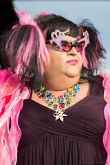 Drag profile - Jacaranda Parade 2015 (sbyrnedotcom) Tags: 2015 people events grafton jacaranda parade rural town lgbt profile drag queen glasses nsw australia