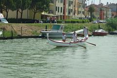 gondola in the race 2 (Fabio.Buoso) Tags: gondole gara voga tradizione caorle mare canale